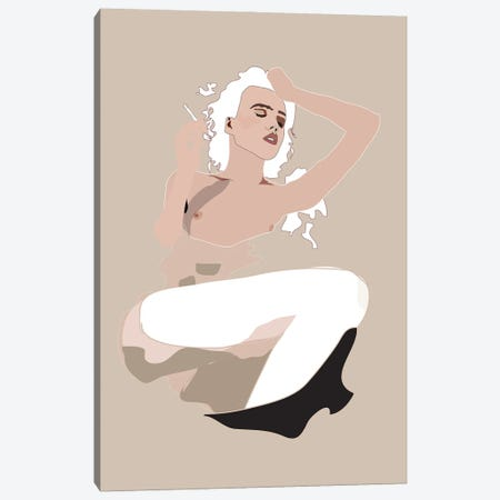 Bathing Canvas Print #AMK7} by Anna Mckay Canvas Print