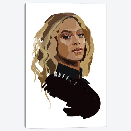 Beyonce Canvas Print #AMK8} by Anna Mckay Canvas Wall Art