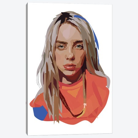 Billie Eilish Canvas Print #AMK9} by Anna Mckay Canvas Wall Art