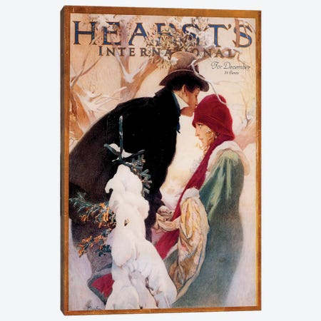 Hearst's International, December 1922 Canvas Print #AMM13} by Alphonse Mucha Canvas Art
