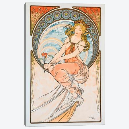Lily Canvas Print #AMM15} by Alphonse Mucha Art Print