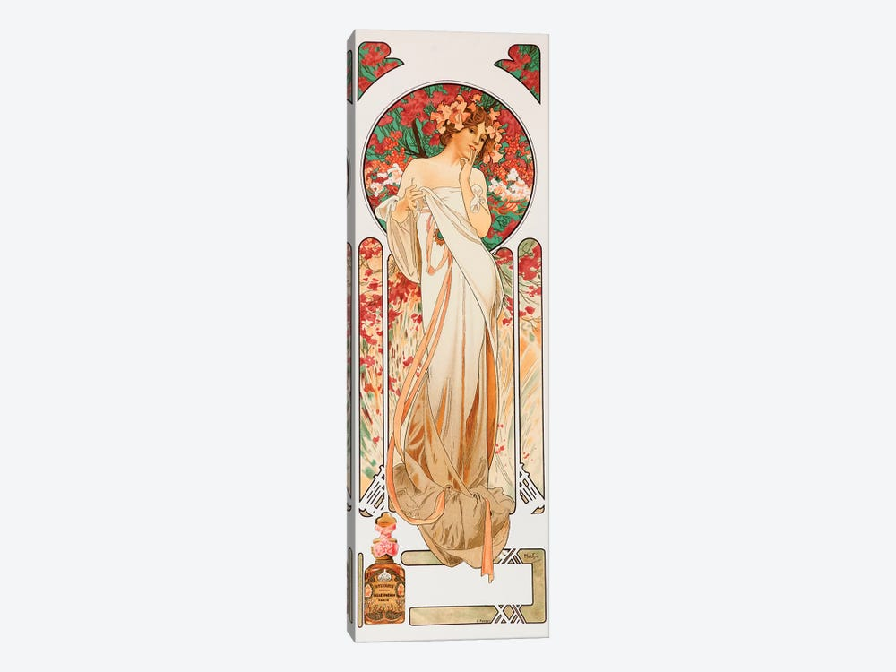 Perfume by Alphonse Mucha 1-piece Canvas Print