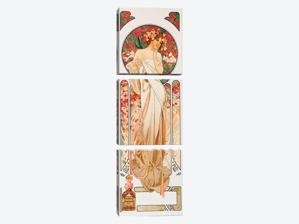 Perfume by Alphonse Mucha 3-piece Art Print