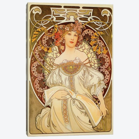 Reverie, 1898 Canvas Print #AMM20} by Alphonse Mucha Art Print