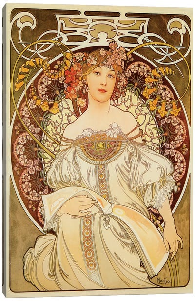 Reverie, 1898 Canvas Art Print