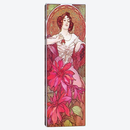 Ruby, 1900 Canvas Print #AMM21} by Alphonse Mucha Canvas Print