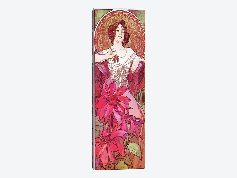 Ruby, 1900 by Alphonse Mucha 1-piece Canvas Art Print