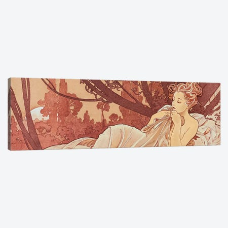 Sepia Canvas Print #AMM22} by Alphonse Mucha Canvas Print