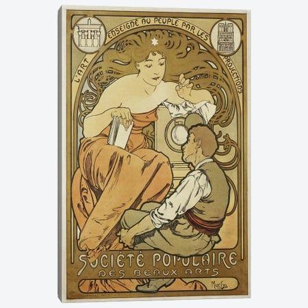 Société Populaire des Beaux Arts, 1897 Canvas Print #AMM23} by Alphonse Mucha Canvas Art Print