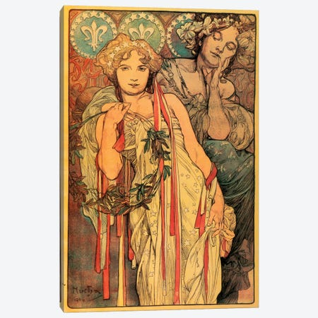 The New York Daily News, 1904 Canvas Print #AMM26} by Alphonse Mucha Canvas Artwork