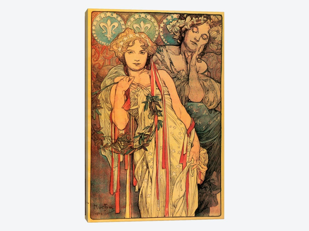 The New York Daily News, 1904 by Alphonse Mucha 1-piece Canvas Art