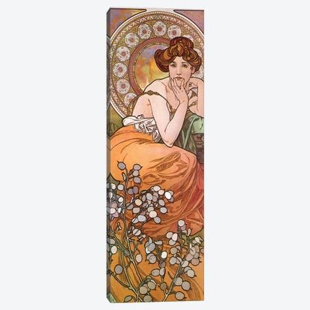 Topaz, 1900 Canvas Print #AMM28} by Alphonse Mucha Canvas Print