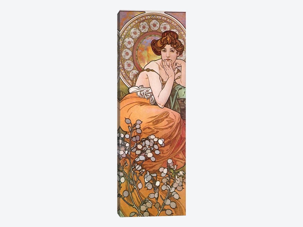 Topaz, 1900 by Alphonse Mucha 1-piece Canvas Wall Art
