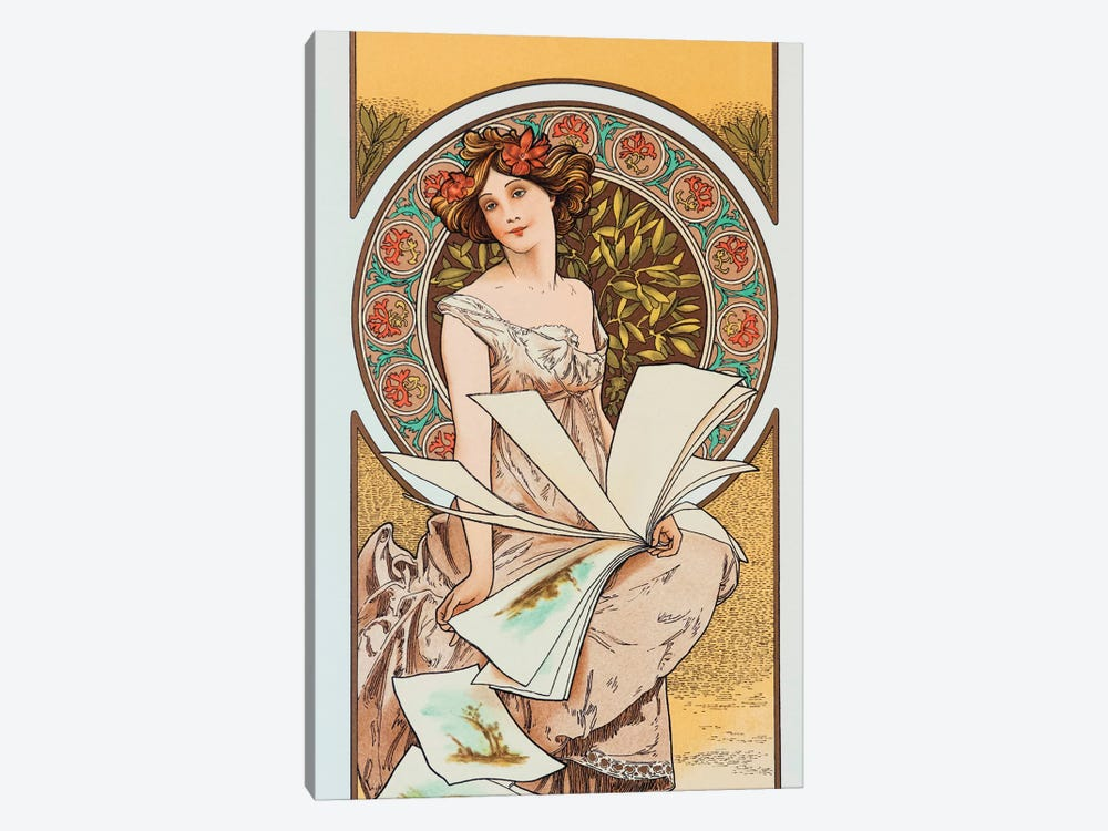 Artist by Alphonse Mucha 1-piece Canvas Print