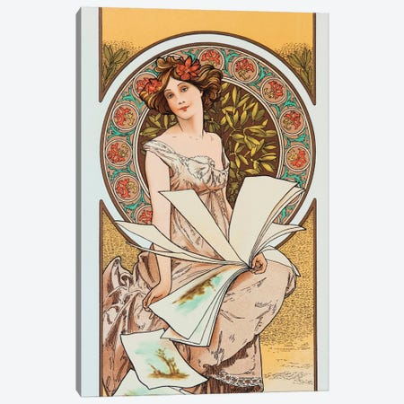 Artist Canvas Print #AMM2} by Alphonse Mucha Canvas Artwork