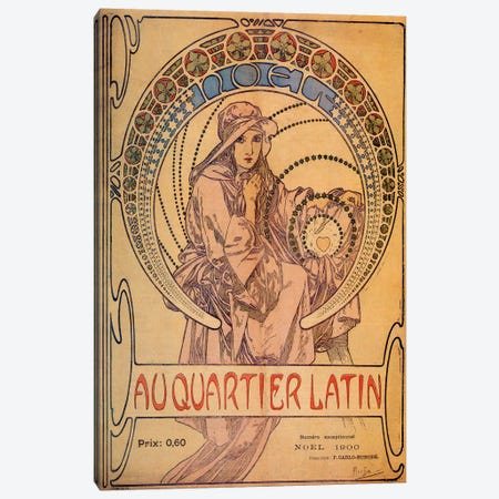 Au Quarter Latin, 1900 Canvas Print #AMM3} by Alphonse Mucha Canvas Art