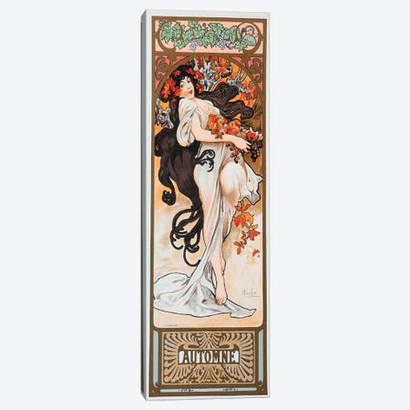 Autumn Canvas Print #AMM4} by Alphonse Mucha Canvas Print