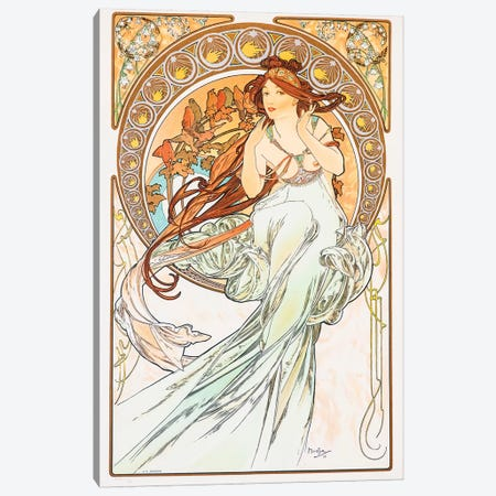 Birds Canvas Print #AMM5} by Alphonse Mucha Canvas Art Print