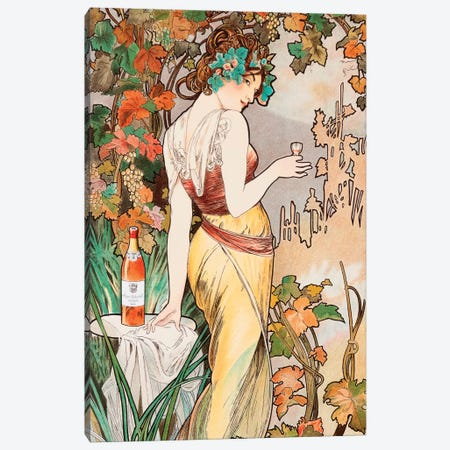 Cognac Canvas Print #AMM8} by Alphonse Mucha Canvas Art