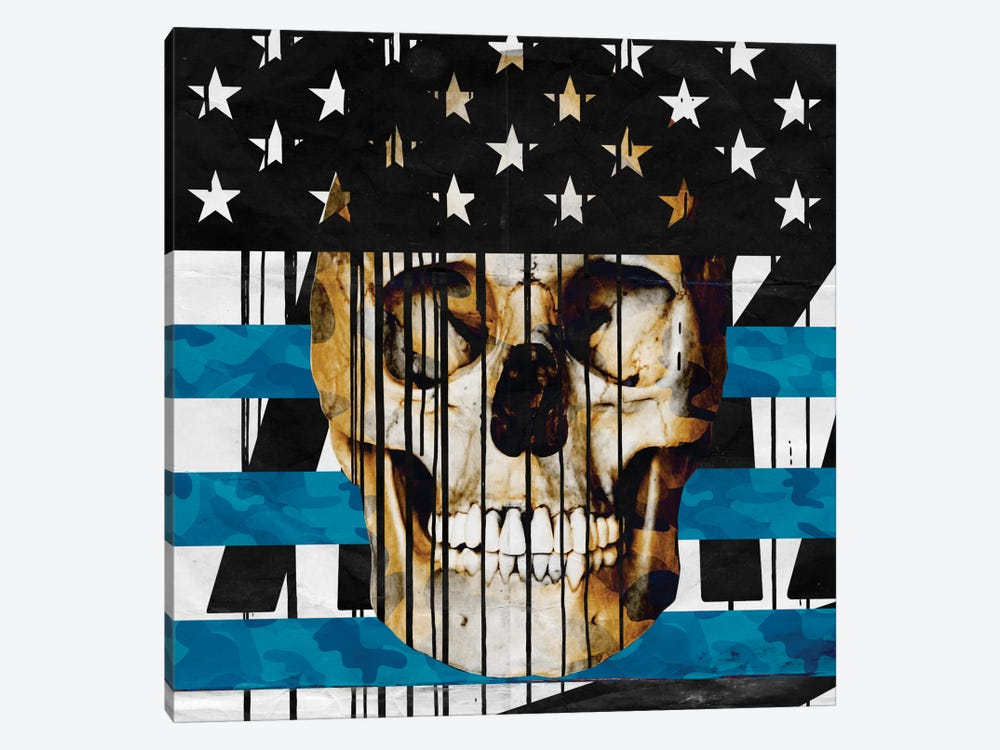 Skull Spangled Banner by 5by5collective 1-piece Canvas Wall Art