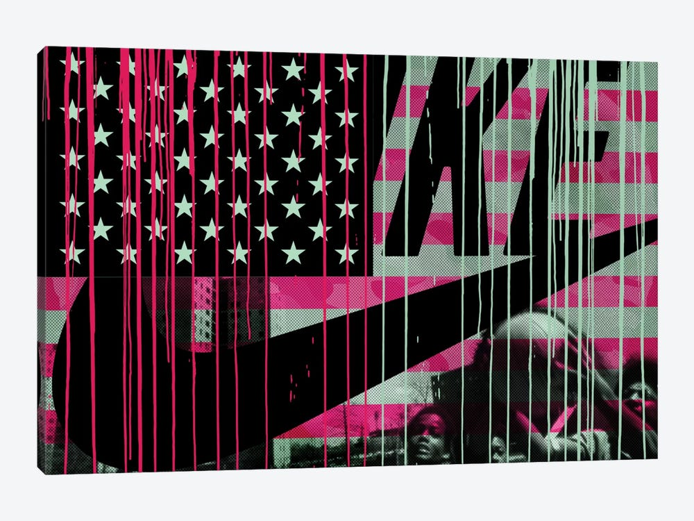 Urban States Of America by 5by5collective 1-piece Canvas Art