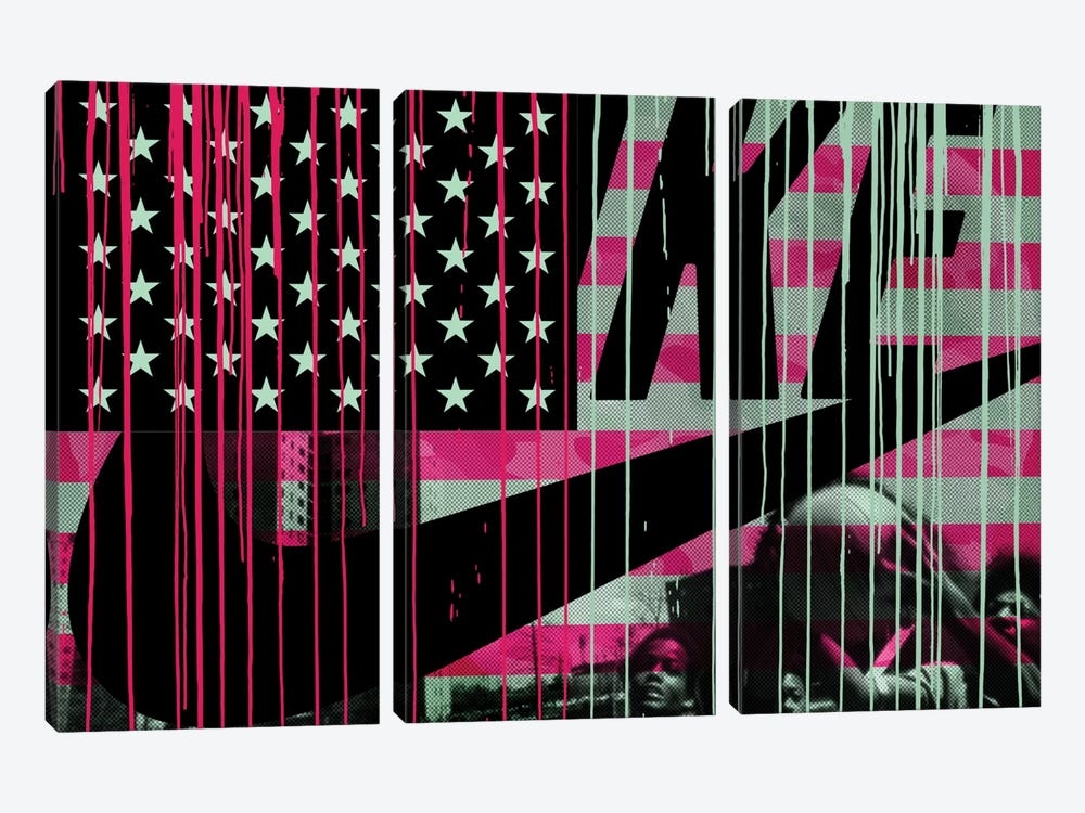 Urban States Of America by 5by5collective 3-piece Canvas Artwork