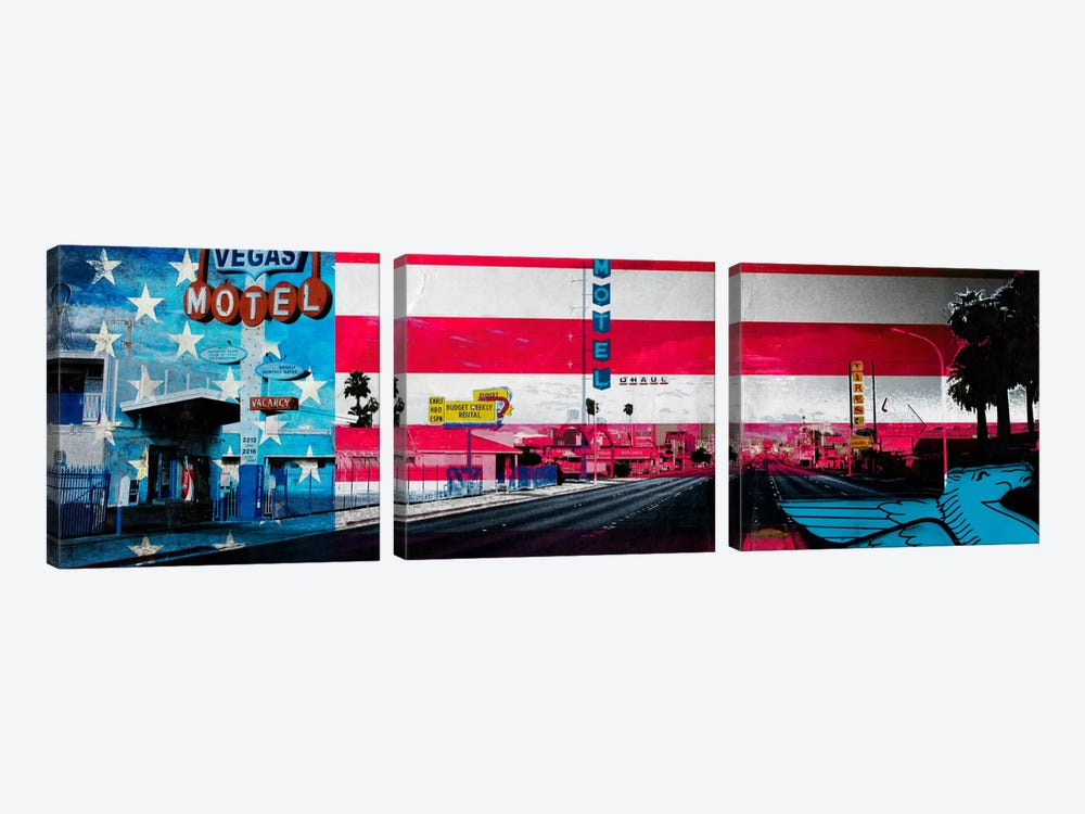 American Strip by 5by5collective 3-piece Canvas Artwork