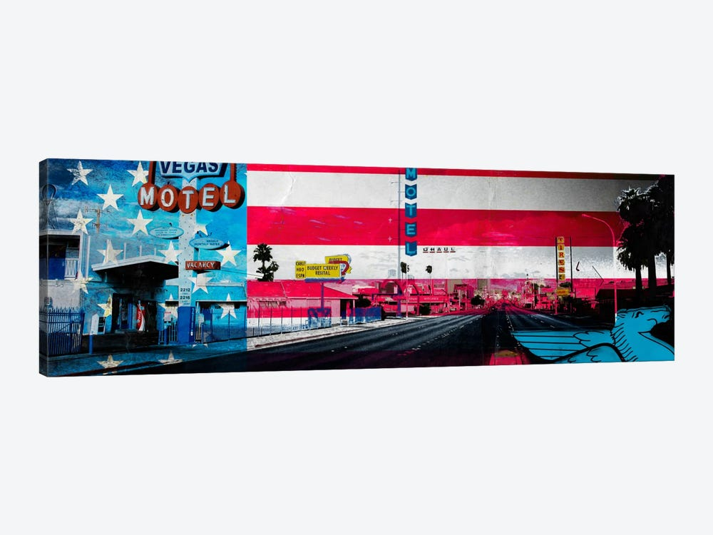 American Strip by 5by5collective 1-piece Canvas Art