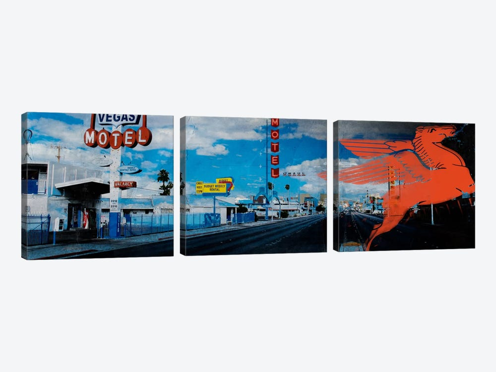 American Strip #1 by 5by5collective 3-piece Canvas Print