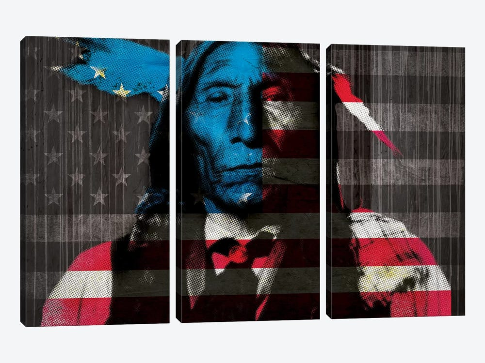 Cherokee by 5by5collective 3-piece Canvas Art