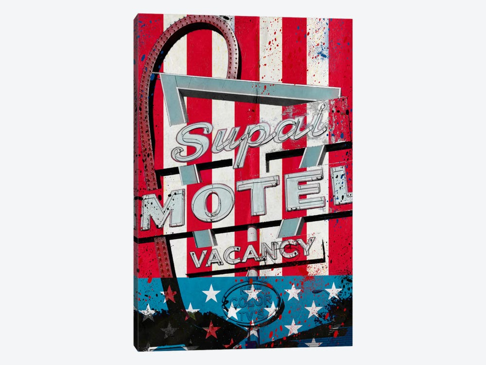 Red White And Stay by 5by5collective 1-piece Canvas Art