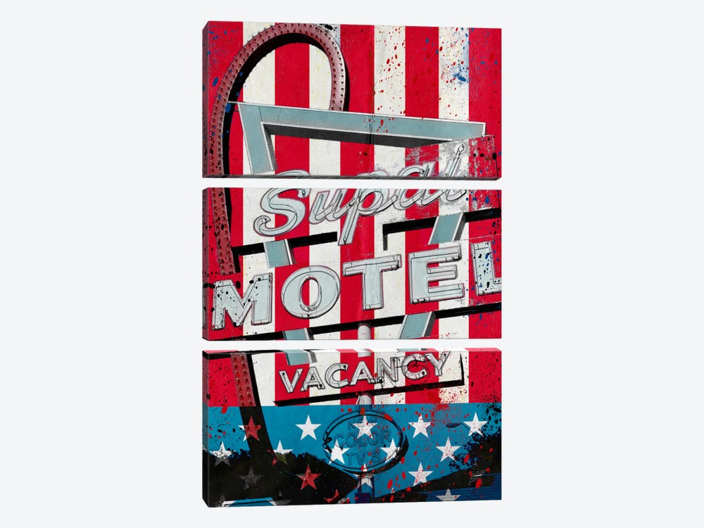 Red White And Stay by 5by5collective 3-piece Canvas Wall Art