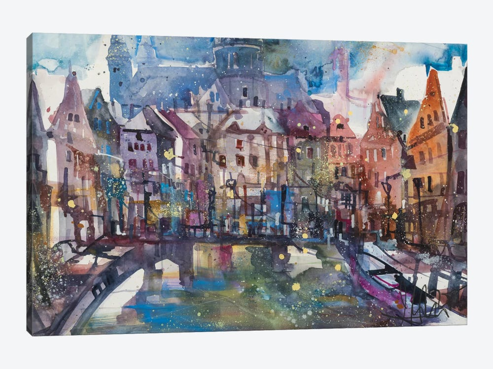 Amsterdam by Andreas Mattern 1-piece Canvas Print