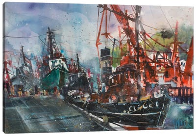 Hamburg Harbour Canvas Art Print