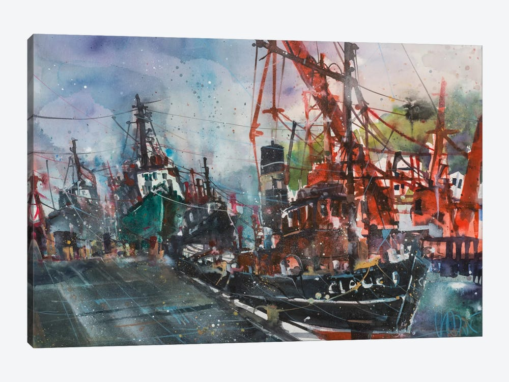 Hamburg Harbour by Andreas Mattern 1-piece Art Print