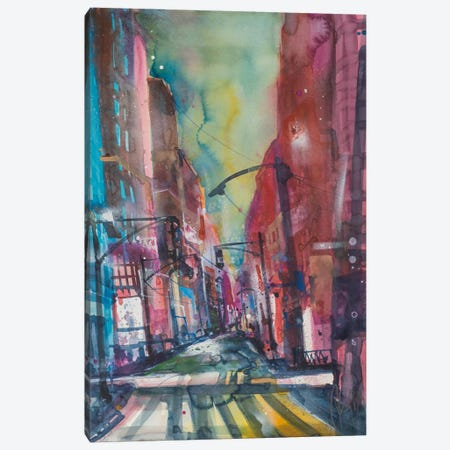 New York Aquarel I Canvas Print #AMN4} by Andreas Mattern Canvas Art