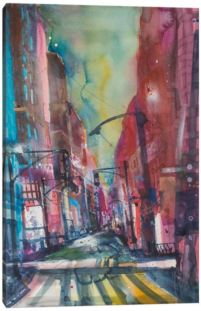 New York Aquarel I Canvas Art Print