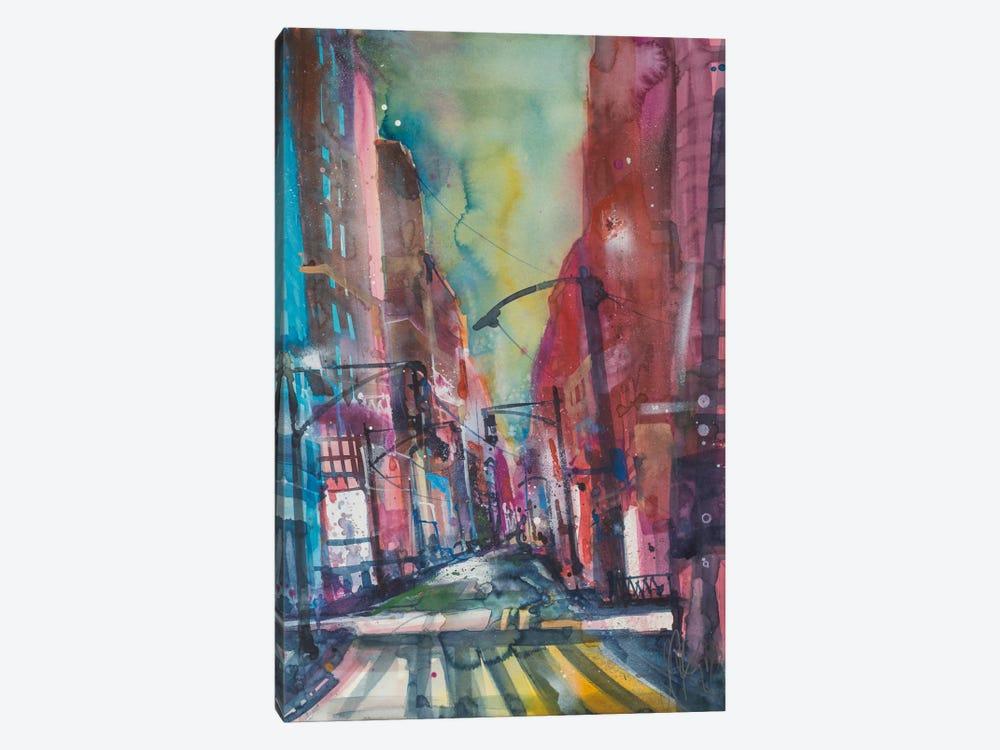 New York Aquarel I by Andreas Mattern 1-piece Canvas Artwork