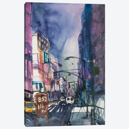 New York Aquarel II Canvas Print #AMN5} by Andreas Mattern Canvas Art