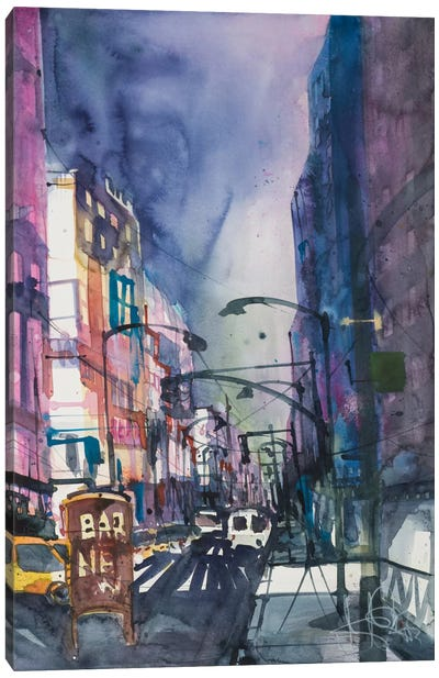 New York Aquarel II Canvas Art Print