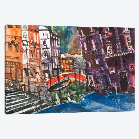 Venice Canvas Print #AMN6} by Andreas Mattern Canvas Wall Art