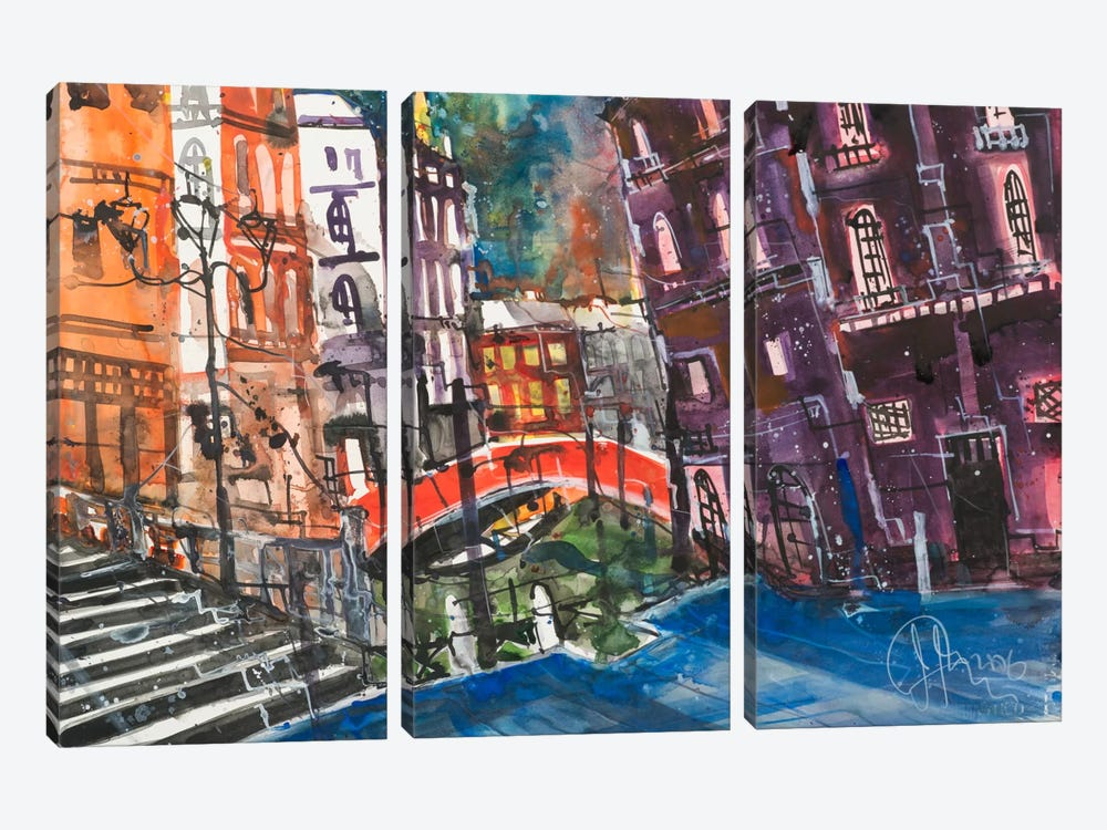 Venice by Andreas Mattern 3-piece Canvas Artwork