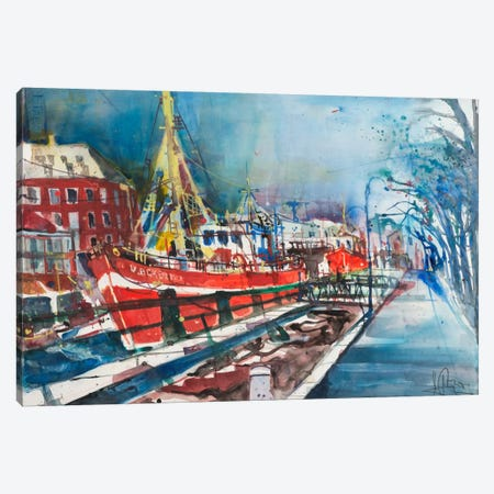 Warnemünde Canvas Print #AMN8} by Andreas Mattern Art Print