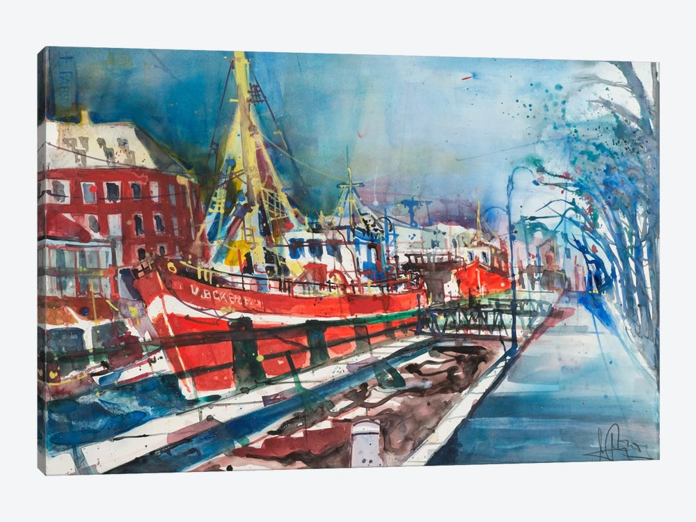 Warnemünde by Andreas Mattern 1-piece Canvas Art