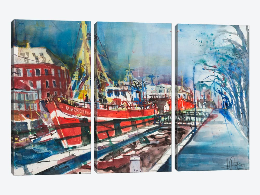 Warnemünde by Andreas Mattern 3-piece Canvas Art