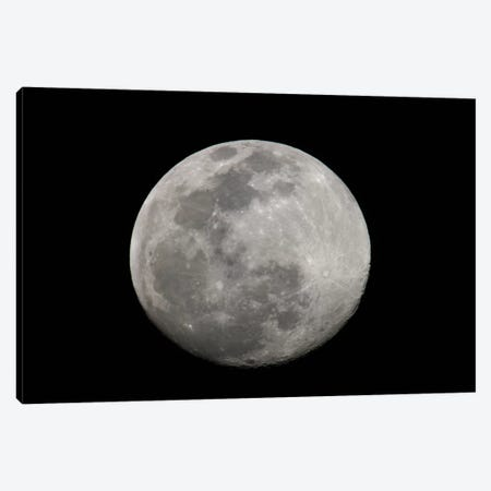 Full Moon In B&W Canvas Print #AMO1} by Arthur Morris Canvas Art