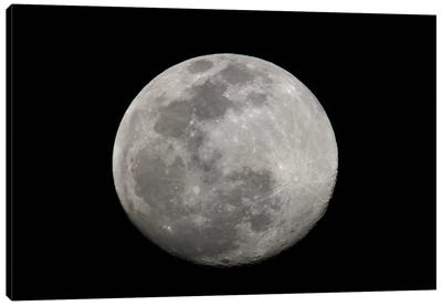 Full Moon In B&W Canvas Print #AMO1