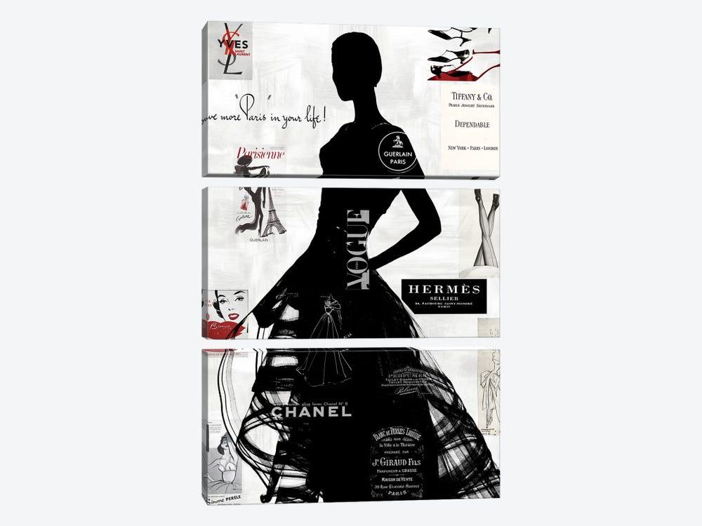 High Fashion III by Amanda Pearson 3-piece Canvas Print