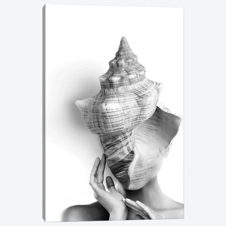 Shell Lady Canvas Print #AMR100} by Tatiana Amrein Canvas Wall Art