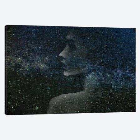 Space Girl II Canvas Print #AMR102} by Tatiana Amrein Canvas Artwork